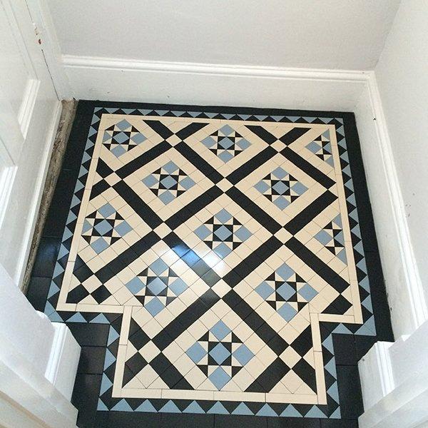 victorian hallway victorian floor tiles mosaic floor. Black Bedroom Furniture Sets. Home Design Ideas